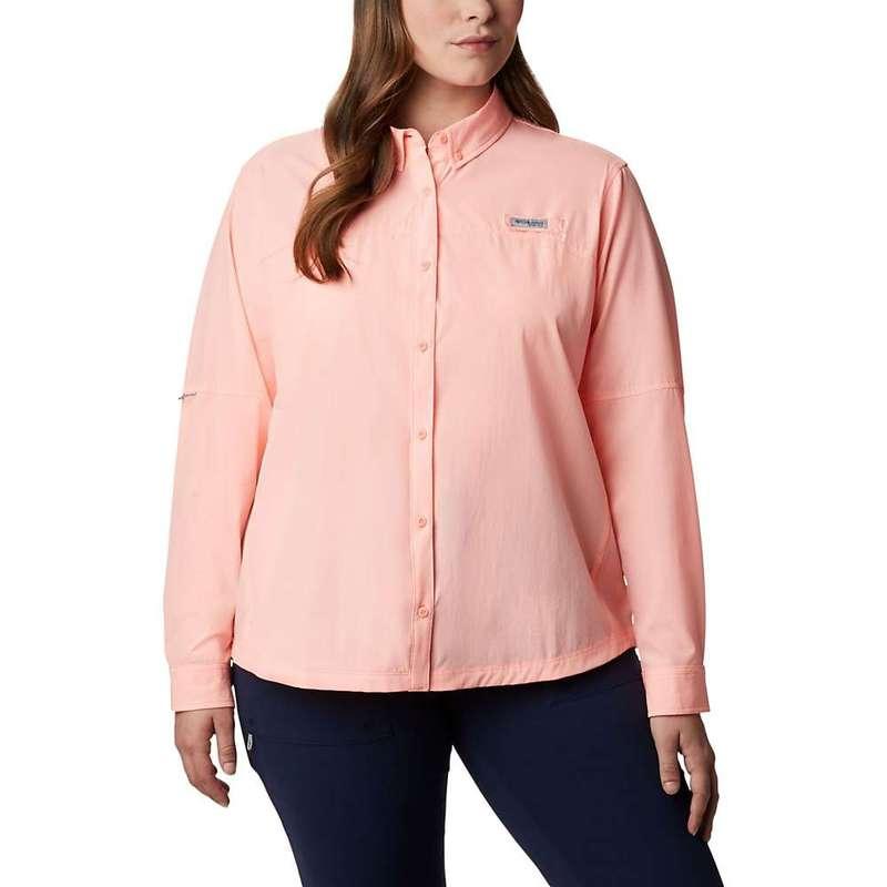 コロンビア レディース シャツ トップス Columbia Women's Coral Point LS Woven Shirt Tiki Pink