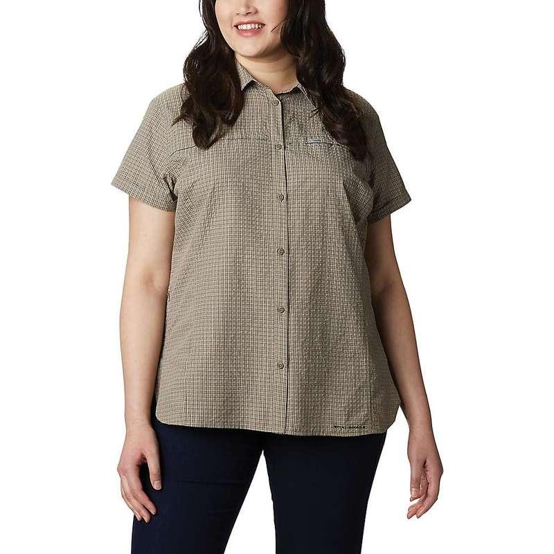 コロンビア レディース シャツ トップス Columbia Women's Silver Ridge Novelty SS Shirt Sage Seersucker