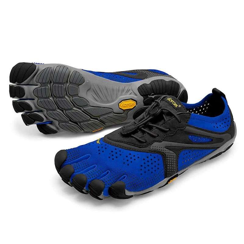 ビブラムファイブフィンガーズ メンズ スニーカー シューズ Vibram Five Fingers Men's V-Run Shoe Blue/Black