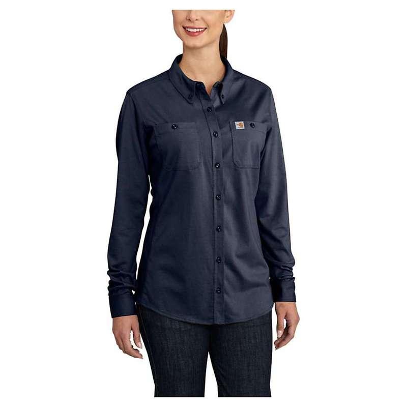 カーハート レディース シャツ トップス Carhartt Women's Flame Resistant Force Cotton Hybrid Shirt Dark Navy