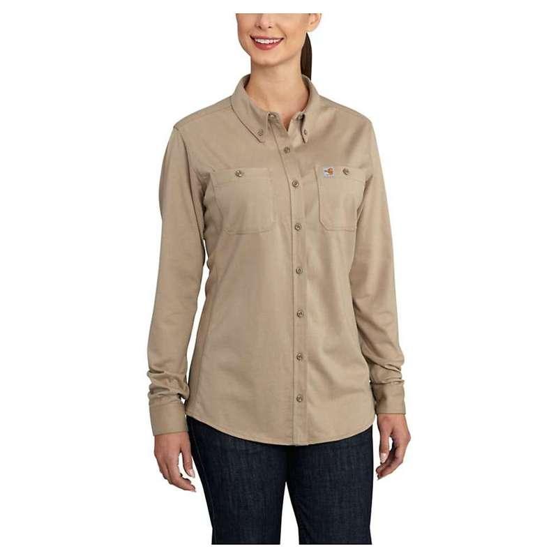 カーハート レディース シャツ トップス Carhartt Women's Flame Resistant Force Cotton Hybrid Shirt Khaki