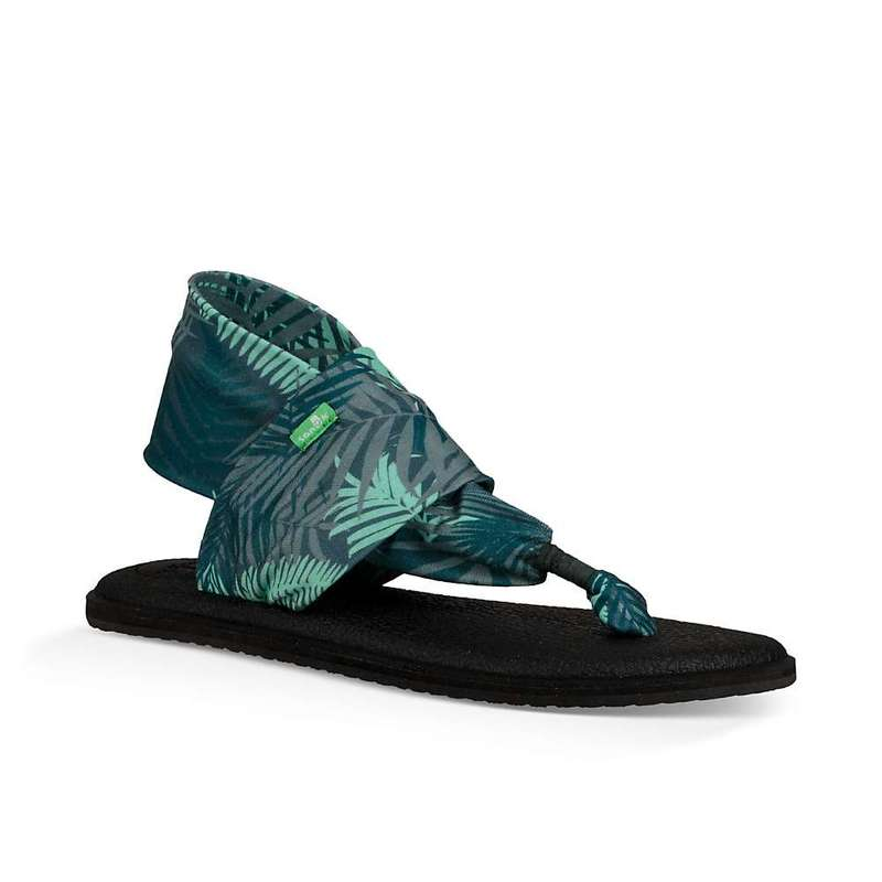 サヌーク レディース サンダル シューズ Sanuk Women's Yoga Sling 2 Print Sandal Green Palm