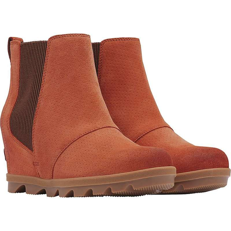 ソレル レディース ブーツ・レインブーツ シューズ Sorel Women's Joan Of Arctic Wedge II Chelsea Boot Teak Brown