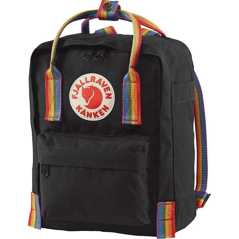 フェールラーベン メンズ バックパック・リュックサック バッグ Fjallraven Kanken Rainbow Mini Backpack Black / Rainbow Pattern
