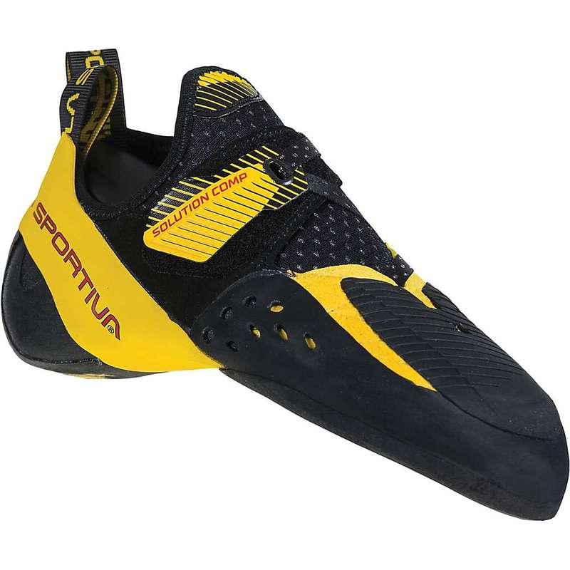 ラスポルティバ メンズ スニーカー シューズ La Sportiva Men's Solution Comp Climbing Shoe Black / Yellow