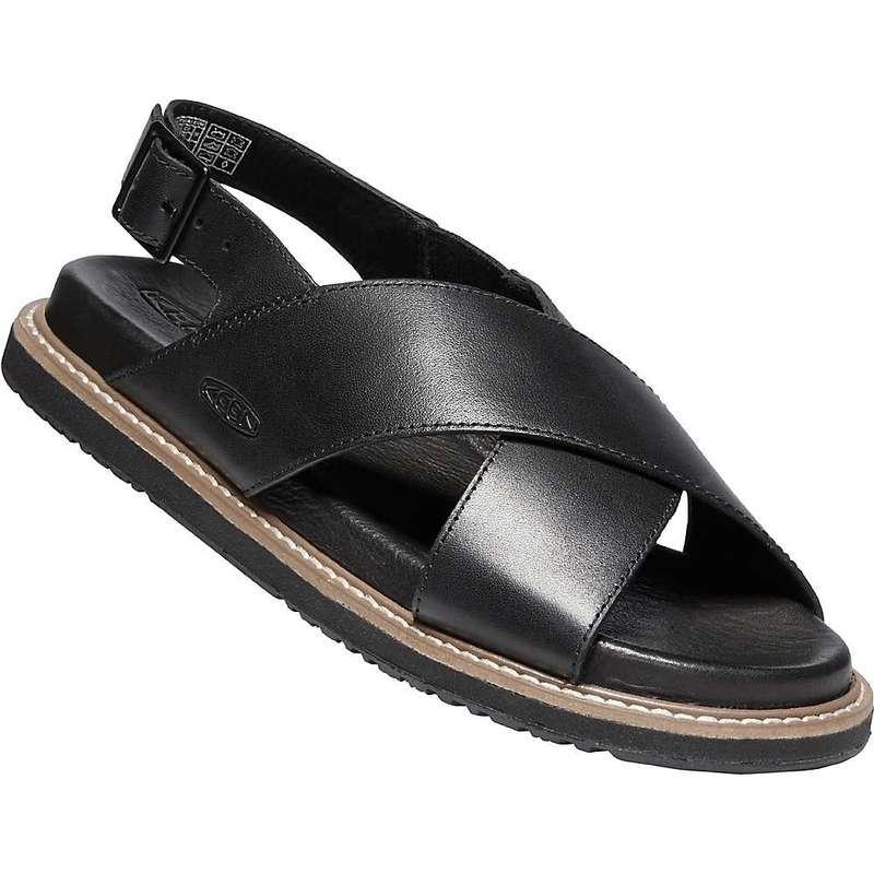 キーン レディース サンダル シューズ Keen Women's Lana Cross Strap Sandal Black / Black