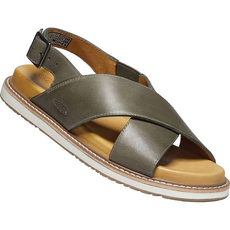 キーン レディース サンダル シューズ Keen Women's Lana Cross Strap Sandal Dusty Olive / Silver Birch