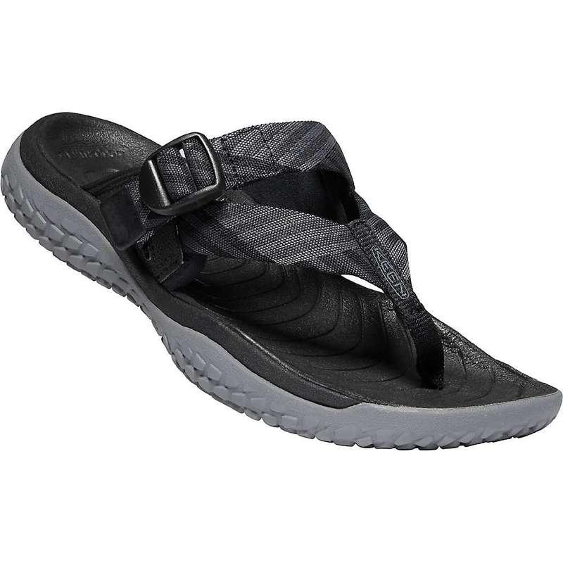 キーン レディース サンダル シューズ Keen Women's Solr Toe Post Sandal Black / Steel Grey