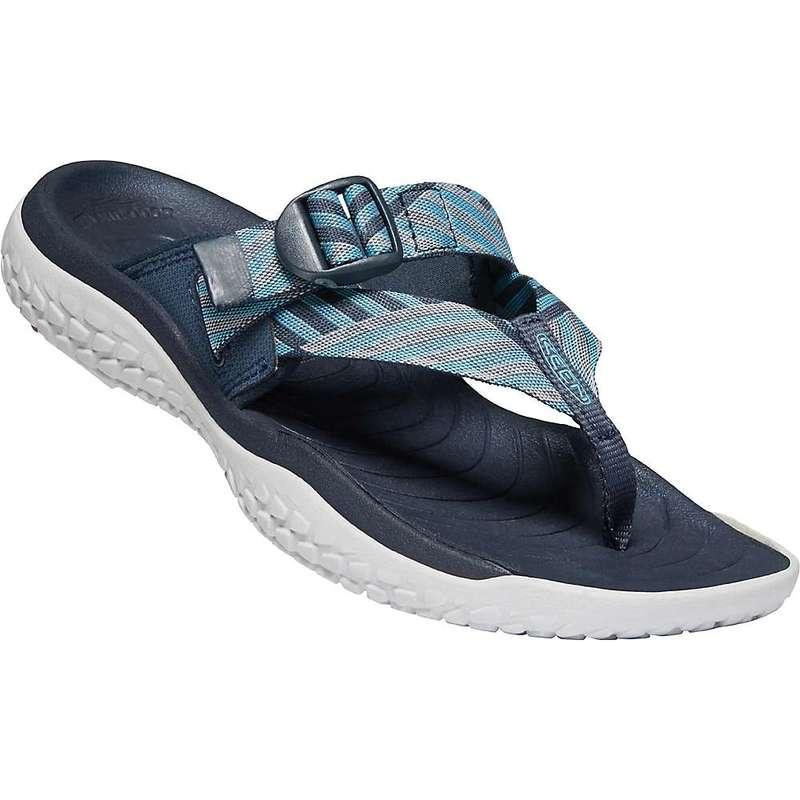 キーン レディース サンダル シューズ Keen Women's Solr Toe Post Sandal Navy / Blue Mist