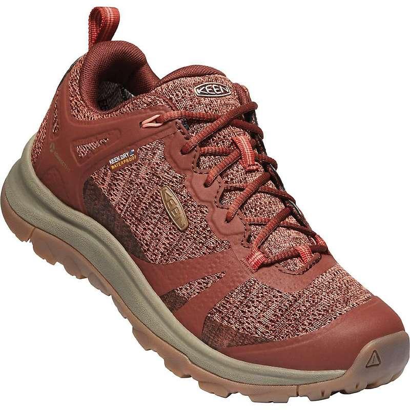 キーン レディース ブーツ・レインブーツ シューズ Keen Women's Terradora II Waterproof Shoe Cherry Mahogany / Coral