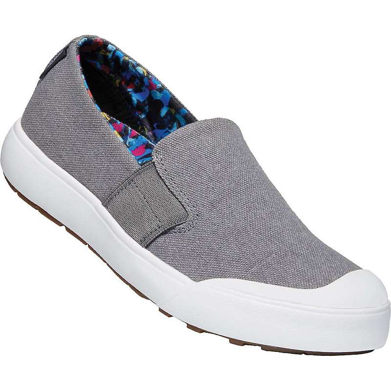キーン レディース スニーカー シューズ Keen Women's Elena Slip On Shoe Steel Grey / White