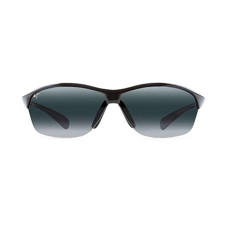 マウイジム メンズ サングラス・アイウェア アクセサリー Maui Jim Hot Sands Polarized Sunglasses Gloss Black / Neutral Grey