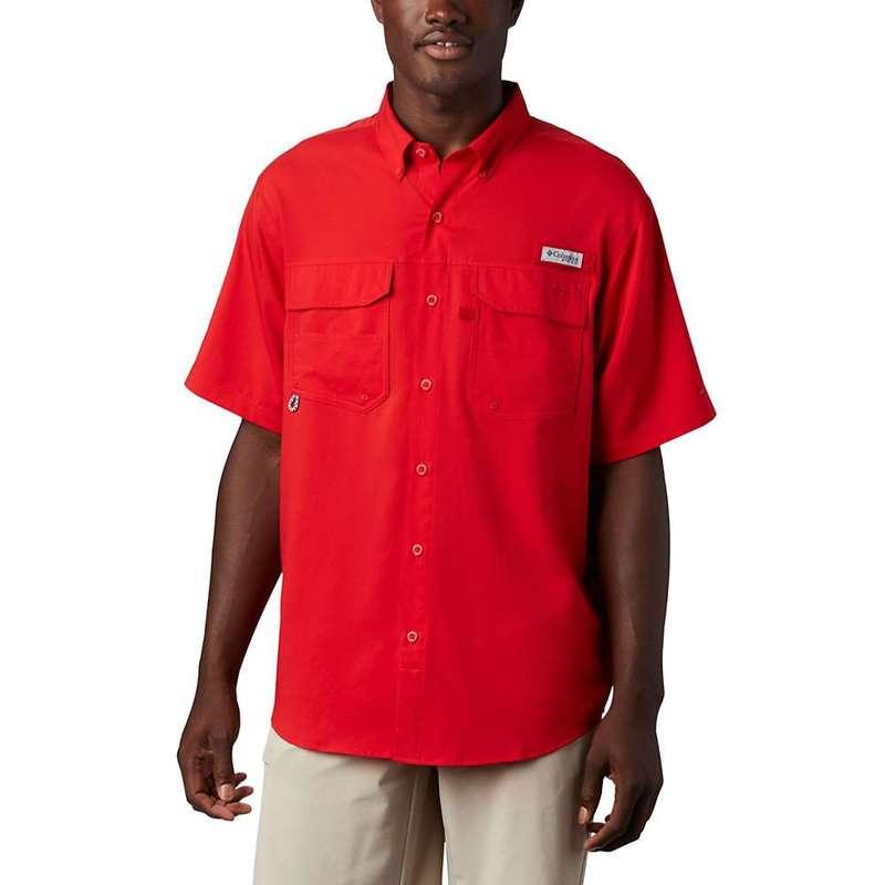 コロンビア メンズ シャツ トップス Columbia Men's Blood And Guts III SS Woven Shirt Red Spark