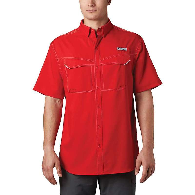 コロンビア メンズ シャツ トップス Columbia Men's Low Drag Offshore SS Shirt Red Spark