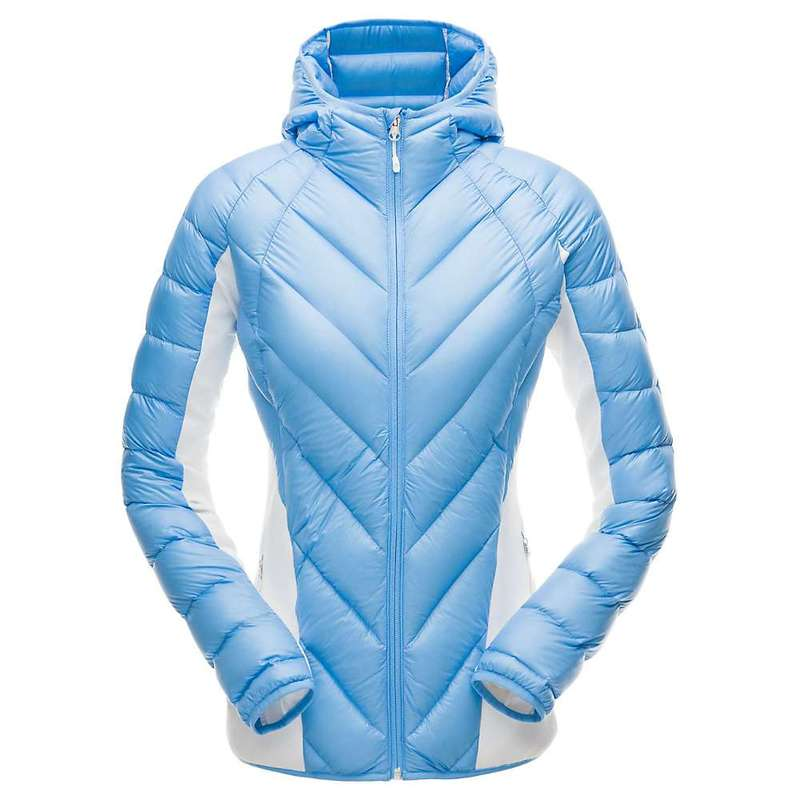 スパイダー レディース ジャケット・ブルゾン アウター Spyder Women's Syrround Hybrid Hoody Jacket Blue Ice / White / Blue Ice