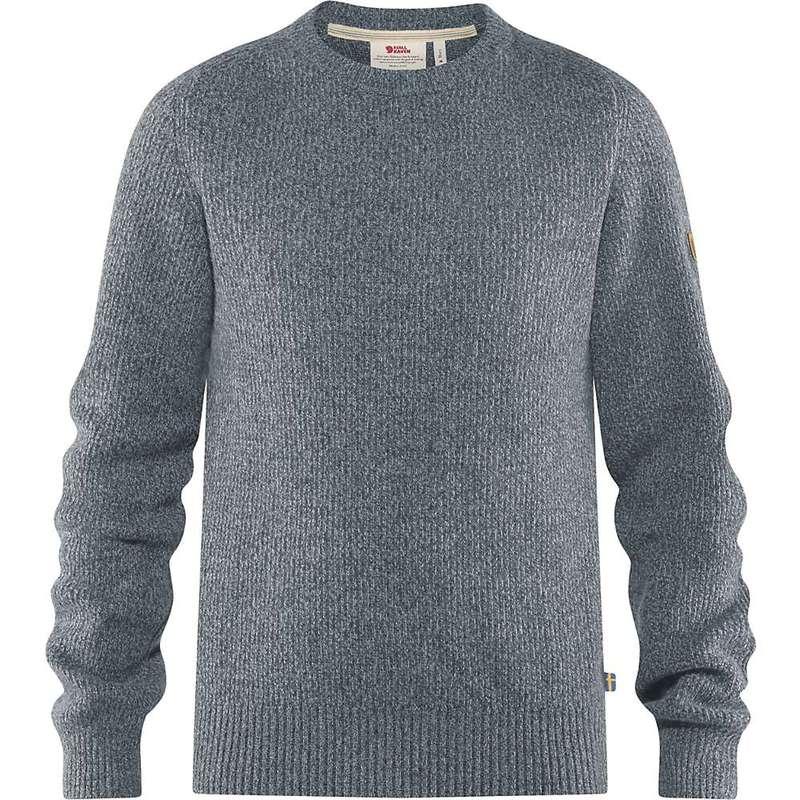 フェールラーベン メンズ ニット・セーター アウター Fjallraven Men's Greenland Re-Wool Crew-Neck Sweater Thunder Grey