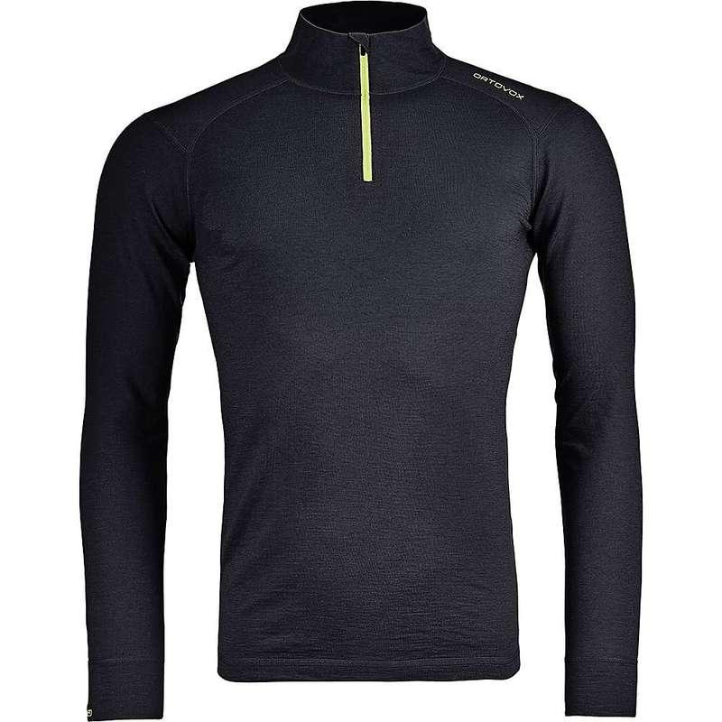 オルトボックス メンズ Tシャツ トップス Ortovox Men's 145 Ultra Zip Neck Black Raven
