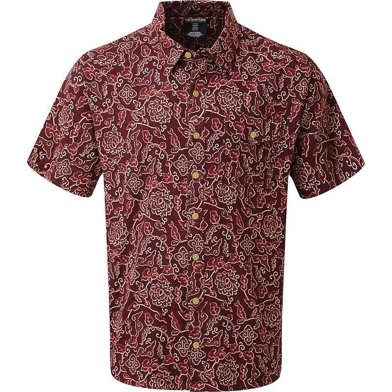 シャーパ メンズ シャツ トップス Sherpa Men's Kiran SS Shirt Ganden Red Print