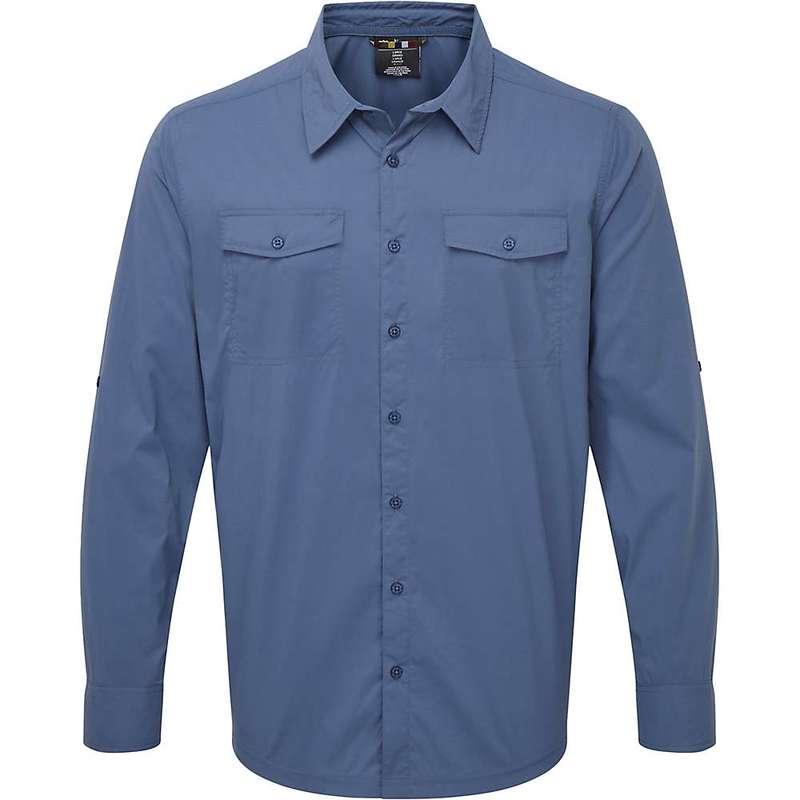 シャーパ メンズ シャツ トップス Sherpa Men's Ravi LS Shirt Neelo Blue