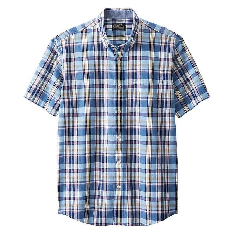 ペンドルトン メンズ シャツ トップス Pendleton Men's Madras SS Shirt Blue Multi Plaid