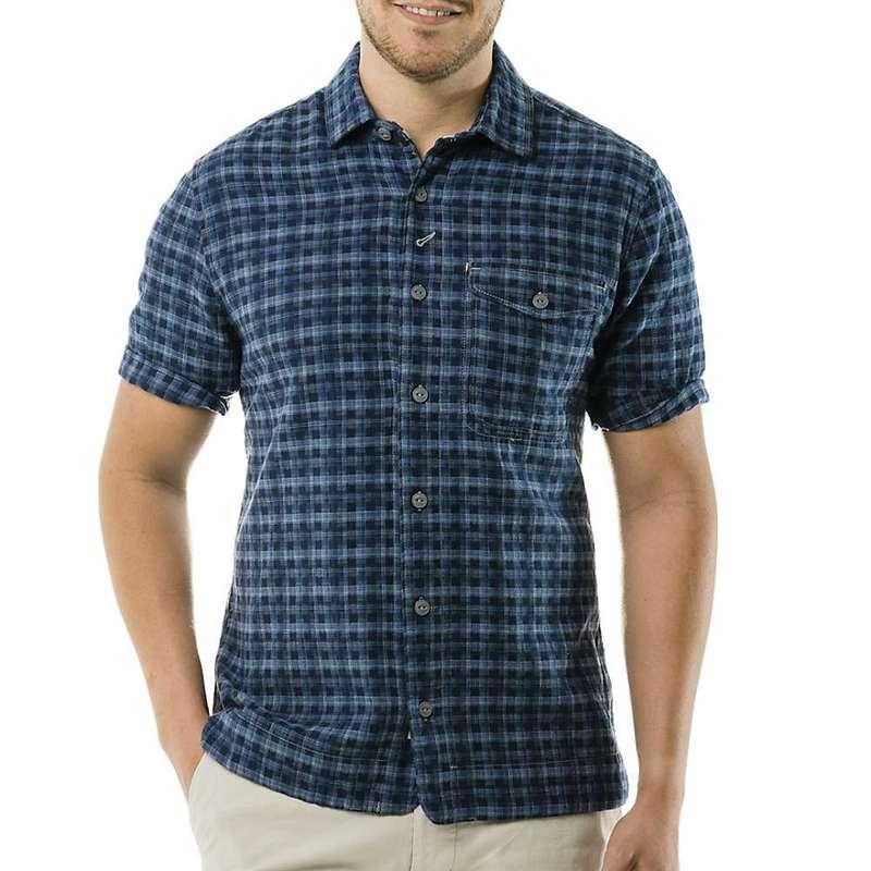 ジェレミア メンズ シャツ トップス Jeremiah Men's Barlow SS Dobby Plaid Shirt Insignia
