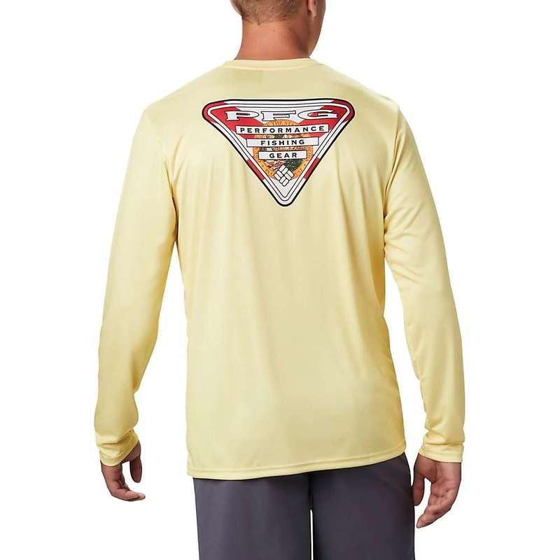 コロンビア メンズ シャツ トップス Columbia Men's Terminal Tackle PFG State Triangle LS Shirt Sunlit / Fl Flag