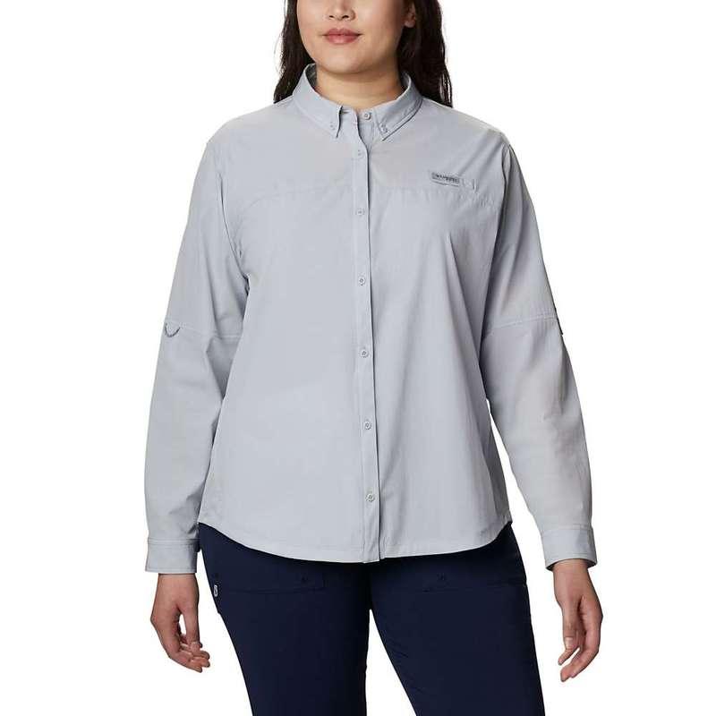 コロンビア レディース シャツ トップス Columbia Women's Coral Point LS Woven Shirt Cirrus Grey