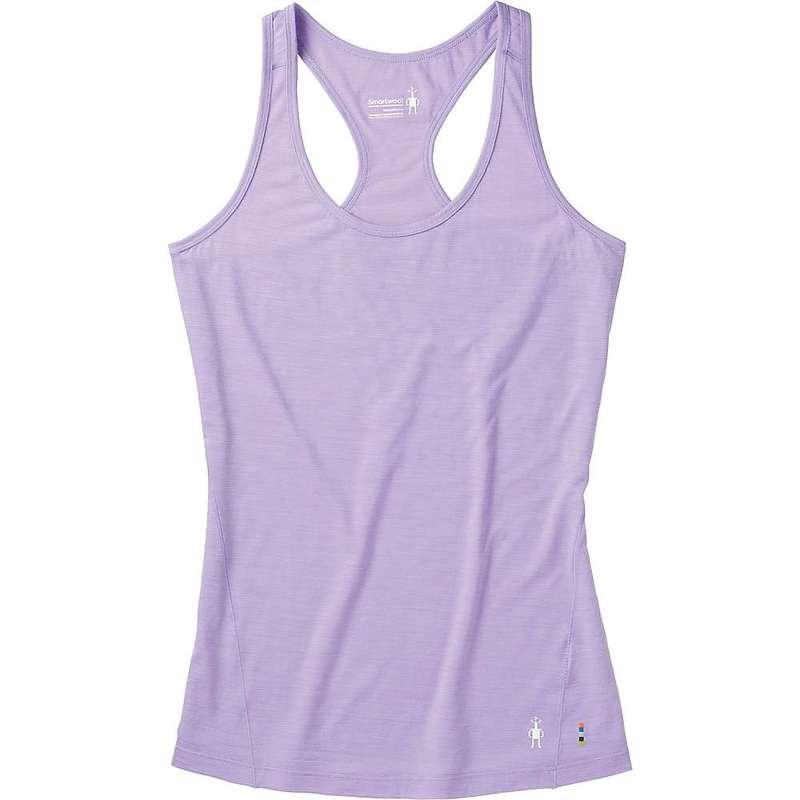 スマートウール レディース Tシャツ トップス Smartwool Women's Merino 150 Baselayer Print Tank Cascade Purple
