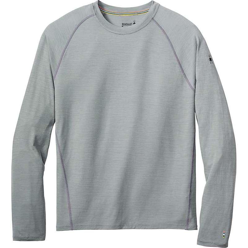 スマートウール メンズ Tシャツ トップス Smartwool Men's Merino 150 Baselayer LS Pattern Top Light Gray