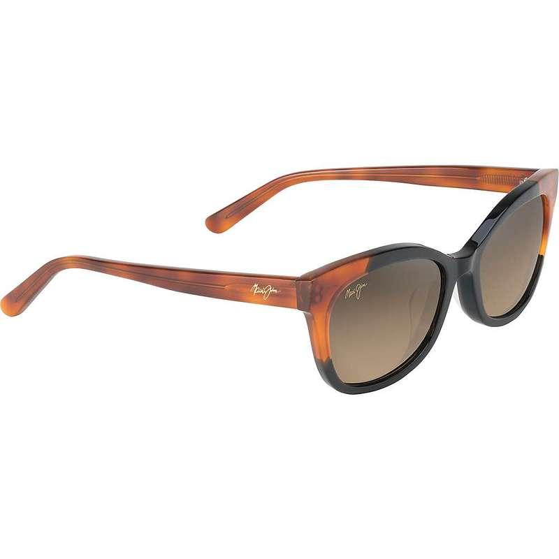 マウイジム レディース サングラス・アイウェア アクセサリー Maui Jim Women's Ilima Polarized Sunglasses Gloss Black with Bourbon Tortoise/HCL Bronze