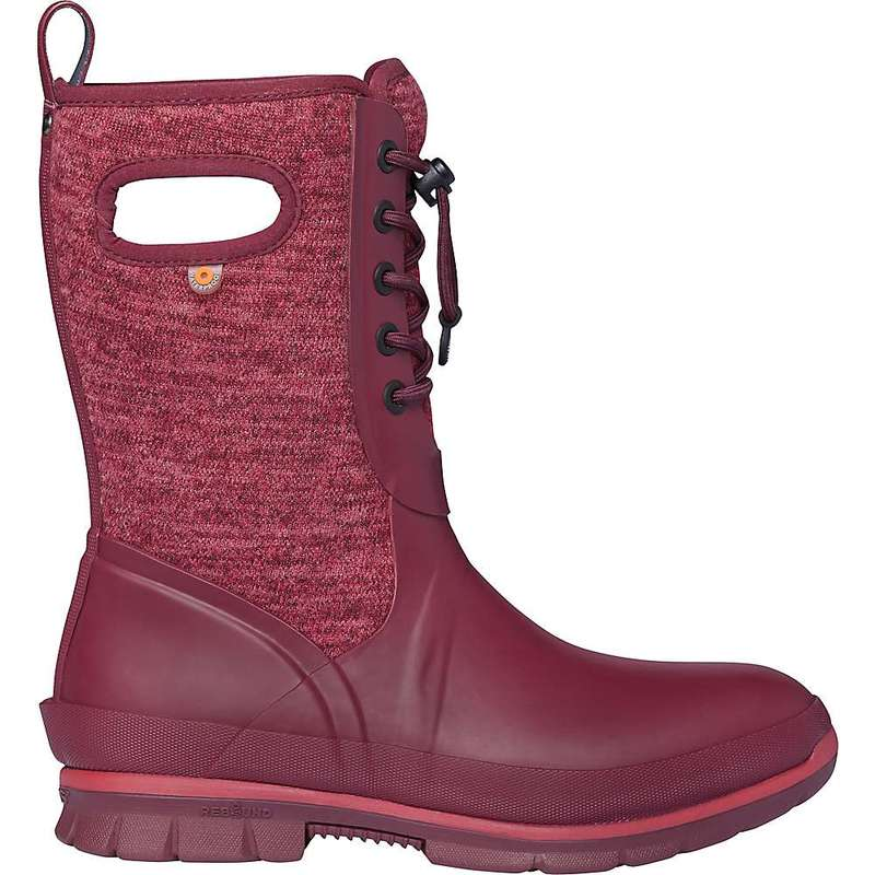 ボグス レディース ブーツ・レインブーツ シューズ Bogs Women's Crandall Lace Knit Boot Burgundy Multi
