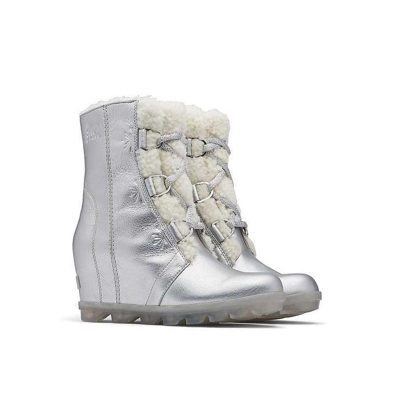 ソレル レディース ブーツ・レインブーツ シューズ Sorel Women's Disney Frozen Joan Of Arctic Wedge II Boot Pure Silver
