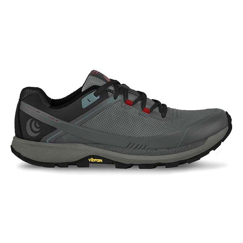 トポアスレチック メンズ スニーカー シューズ Topo Atheltic Men's Runventure 3 Running Shoe Grey / Red