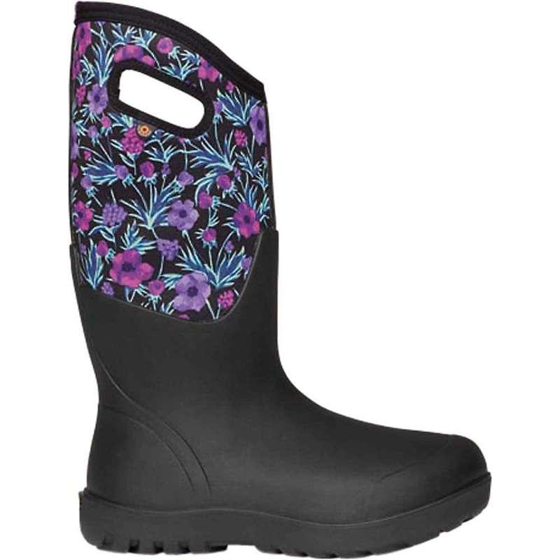 ボグス レディース ブーツ・レインブーツ シューズ Bogs Women's Neo Classic Tall Vine Floral Boot Black Multi