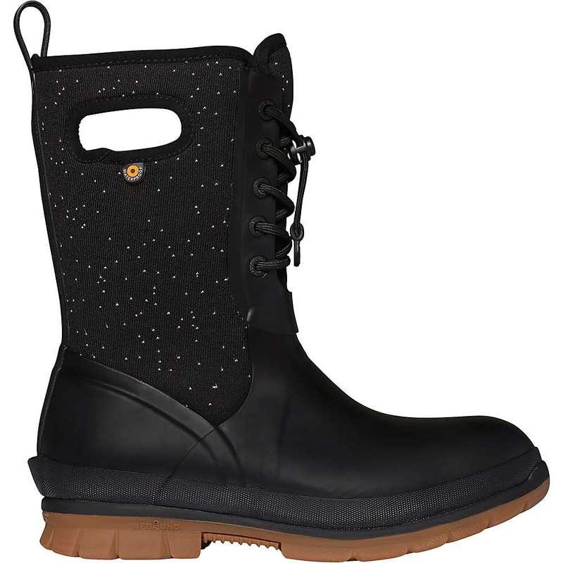 ボグス レディース ブーツ・レインブーツ シューズ Bogs Women's Crandall Lace Speckle Boot Black