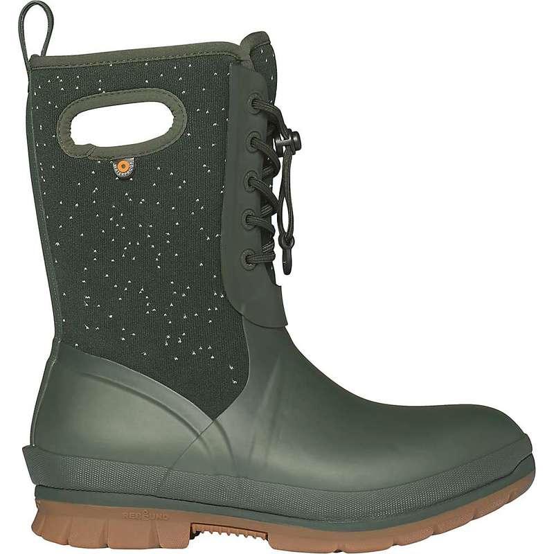 ボグス レディース ブーツ・レインブーツ シューズ Bogs Women's Crandall Lace Speckle Boot Dark Green