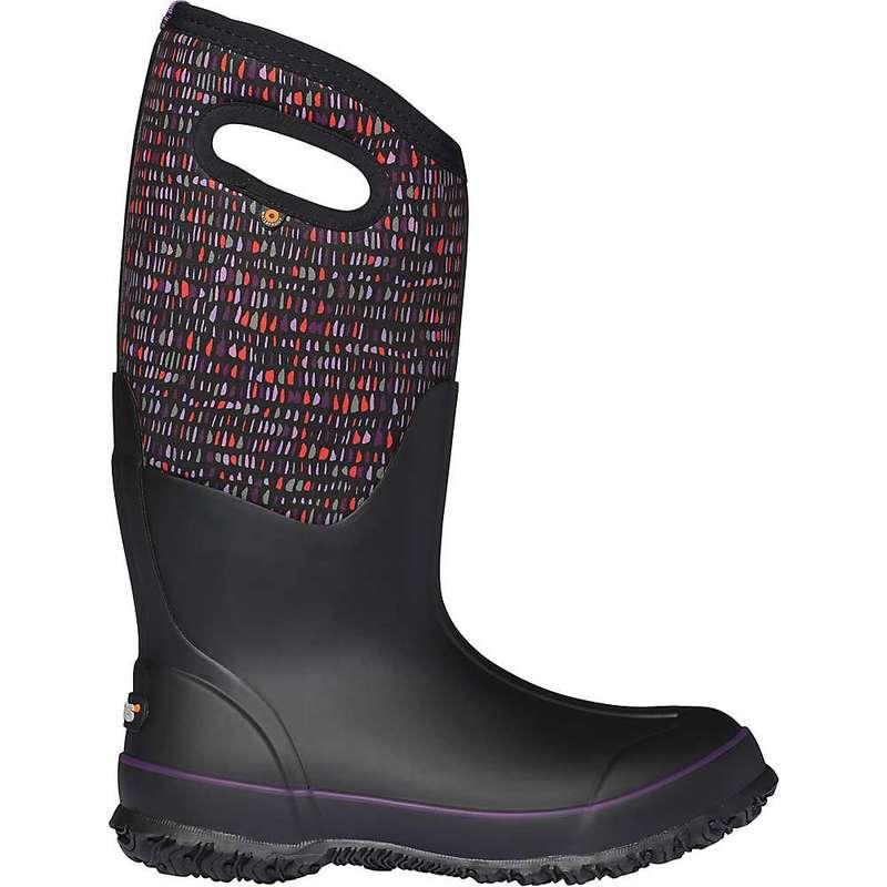 ボグス レディース ブーツ・レインブーツ シューズ Bogs Women's Classic Tall Twinkle Boot Black Multi