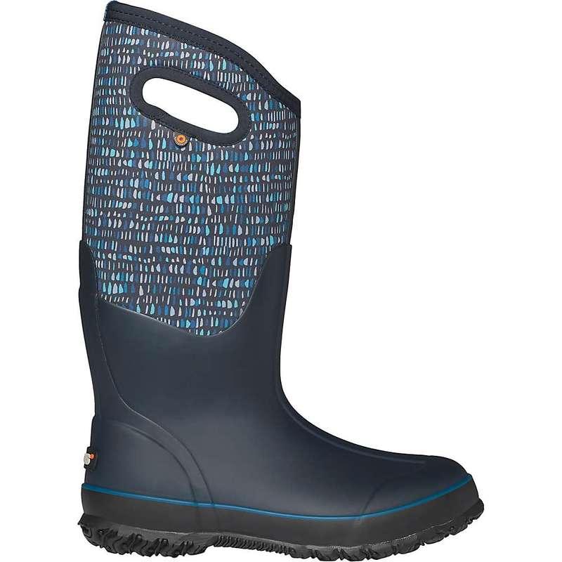 ボグス レディース ブーツ・レインブーツ シューズ Bogs Women's Classic Tall Twinkle Boot Dark Blue Multi