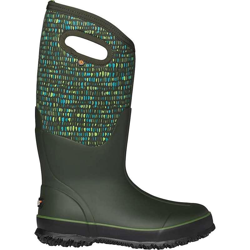 ボグス レディース ブーツ・レインブーツ シューズ Bogs Women's Classic Tall Twinkle Boot Dark Green Multi
