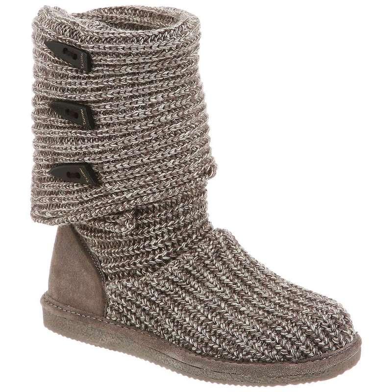 ベアパウ レディース ブーツ・レインブーツ シューズ Bearpaw Women's Knit Tall Boot Gray II