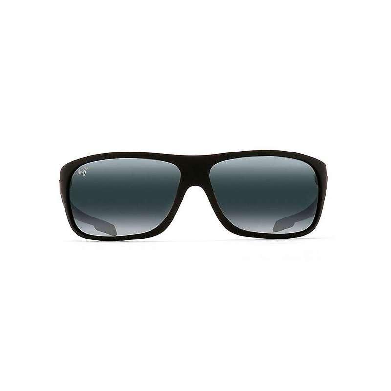マウイジム メンズ サングラス・アイウェア アクセサリー Maui Jim Island Time Polarized Sunglasses Matte Black Rubber / Neutral Grey