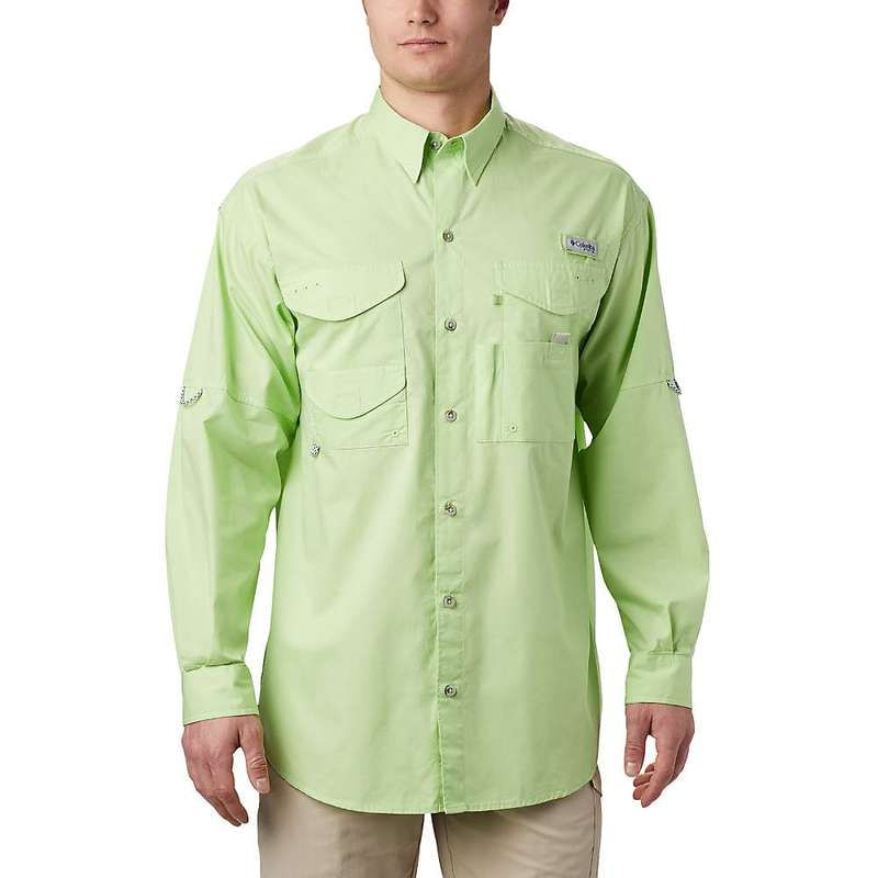 コロンビア メンズ シャツ トップス Columbia Men's Bonehead LS Shirt Jade Lime