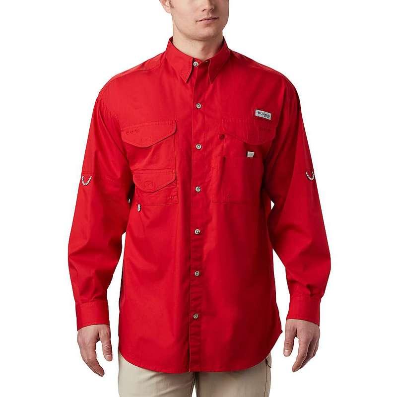 コロンビア メンズ シャツ トップス Columbia Men's Bonehead LS Shirt Red Spark