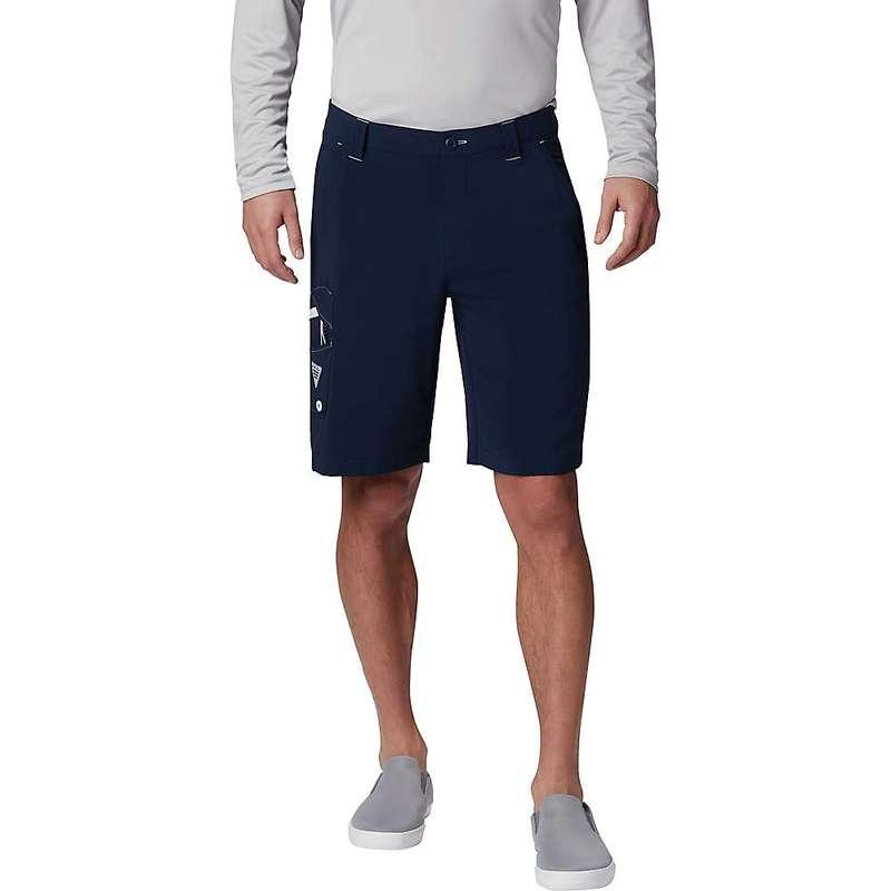コロンビア メンズ ハーフパンツ・ショーツ ボトムス Columbia Men's Terminal Tackle Short - Extended Sizing Collegiate Navy / White