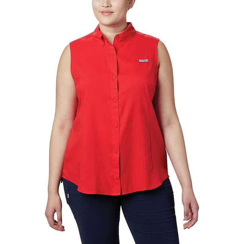 コロンビア レディース シャツ トップス Columbia Women's Tamiami Sleeveless Shirt Red Lily