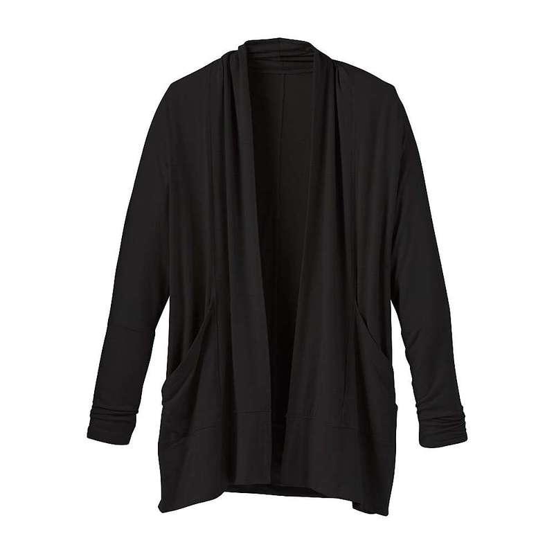 プラーナ レディース ニット・セーター アウター Prana Women's Foundation Wrap - Plus Black