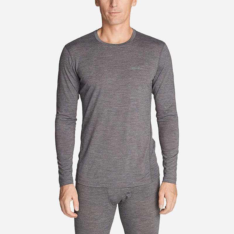 エディー バウアー メンズ カジュアルパンツ ボトムス Eddie Bauer First Ascent Men's Midweight Freedry Merino Hybrid Baselayer Shirt Heather Gray