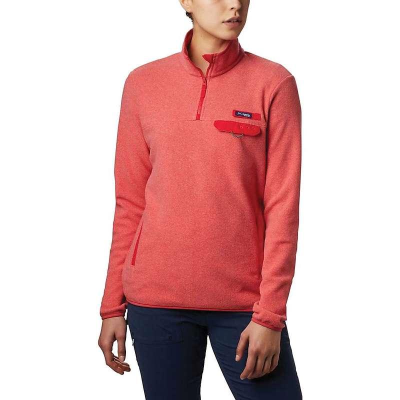 コロンビア レディース ジャケット・ブルゾン アウター Columbia Women's Harborside II Fleece Pullover Top Red Lily Heather