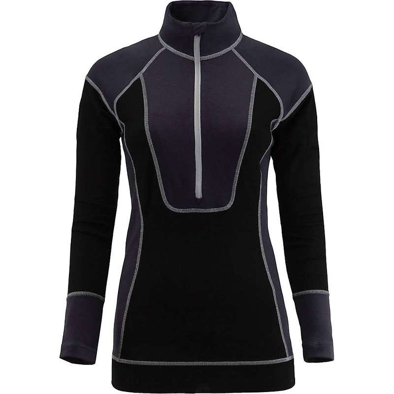 スパイダー レディース Tシャツ トップス Spyder Women's Elevation Half Zip Baselayer Top Black