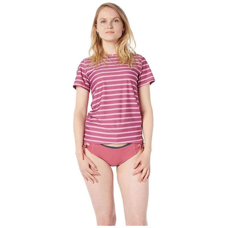 レベルシックス レディース Tシャツ トップス Level Six Women's Coastal SS Top Block Stripe Light Pink